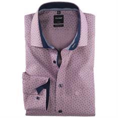OLYMP overhemd Modern Fit 120124 in het Donker Rood