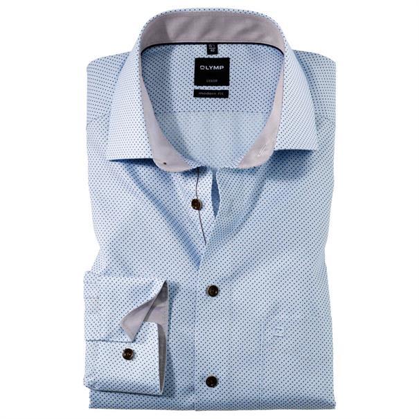 OLYMP overhemd Modern Fit 120134 in het Beige