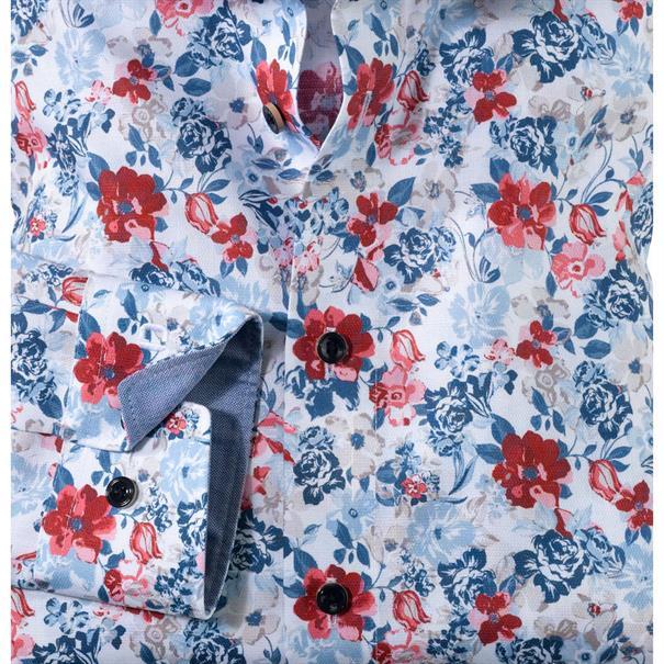 OLYMP overhemd Modern Fit 120334 in het Rood