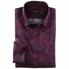OLYMP overhemd Modern Fit 120524 in het Donker Rood