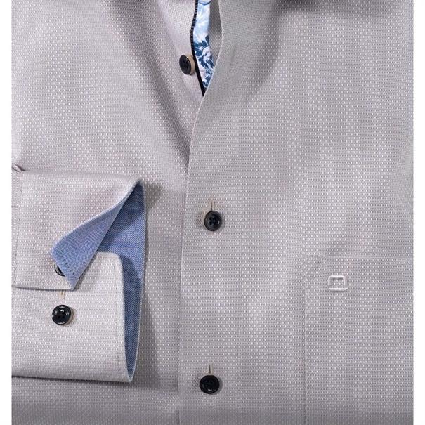 OLYMP overhemd Modern Fit 120534 in het Beige