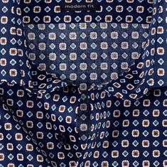 OLYMP overhemd Modern Fit 120744 in het Bruin