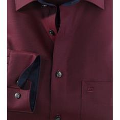 OLYMP overhemd Modern Fit 121724 in het Donker Rood