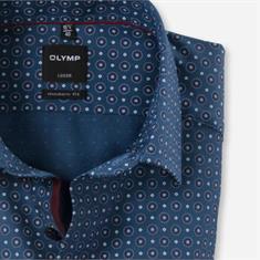 OLYMP overhemd Modern Fit 121844 in het Donker Rood