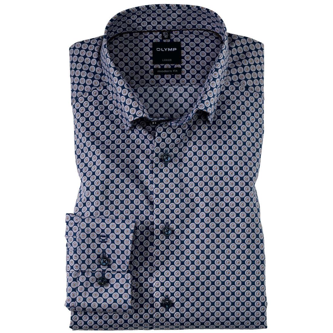 OLYMP overhemd Modern Fit 122034 in het Bruin