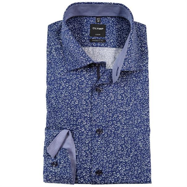 OLYMP overhemd Modern Fit 123434 in het Kobalt