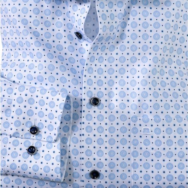 OLYMP overhemd Modern Fit 123734 in het Blauw