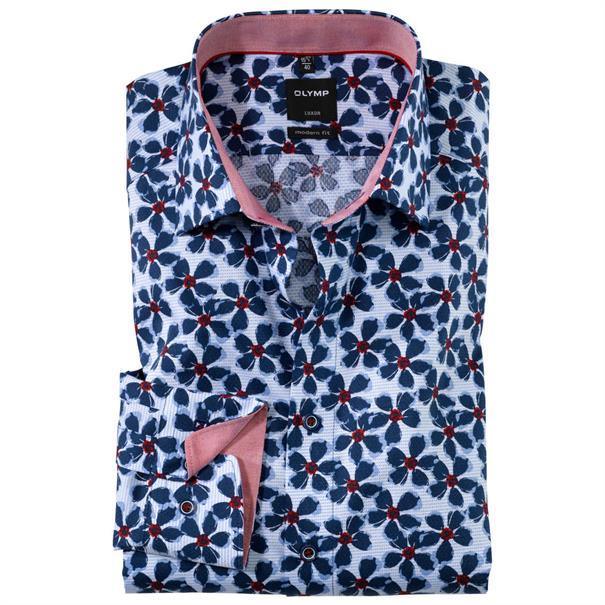 OLYMP overhemd Modern Fit 124734 in het Rood
