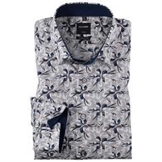 OLYMP overhemd Modern Fit 125314 in het Khaky beige