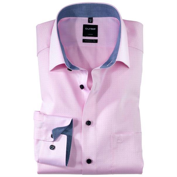 OLYMP overhemd Modern Fit 125834 in het Roze