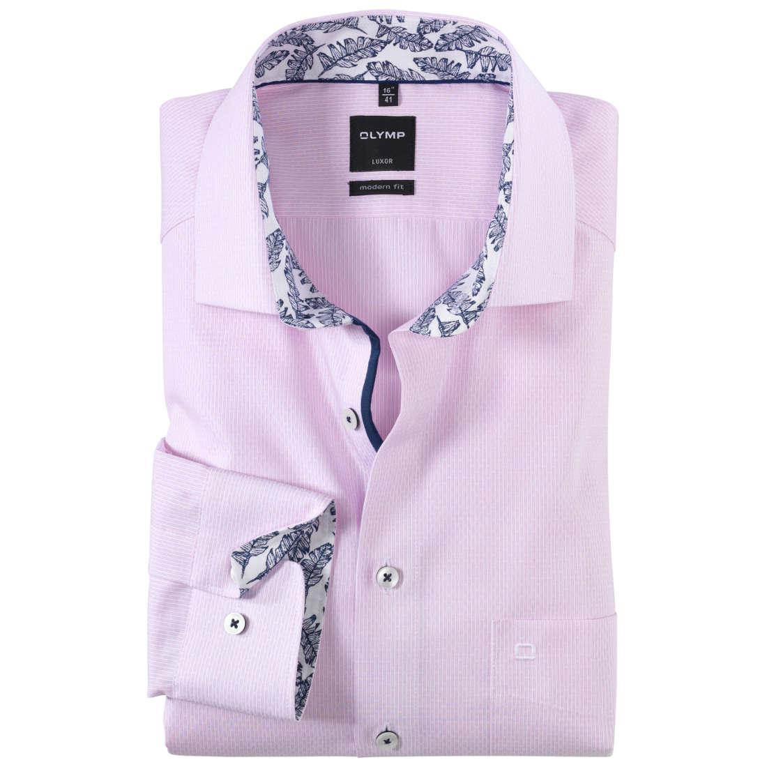 Roze Overhemd.Olymp Overhemd Modern Fit 125914 In Het Roze