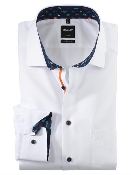OLYMP overhemd Modern Fit 125954 in het Wit