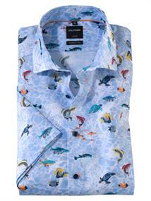 OLYMP overhemd Modern Fit 126152 in het Blauw