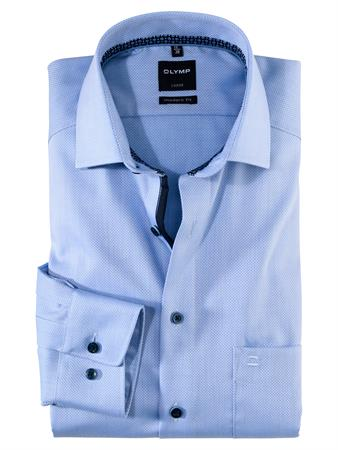 OLYMP overhemd Modern Fit 126279 in het Blauw