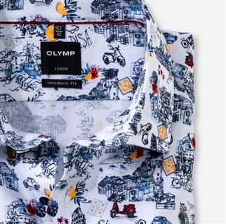 OLYMP overhemd Modern Fit 126672 in het Rood