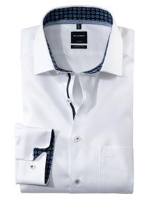 OLYMP overhemd Modern Fit 127464 in het Wit