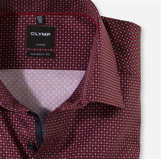 OLYMP overhemd Modern Fit 130479 in het Rood