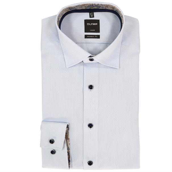OLYMP overhemd Modern Fit 130634 in het Blauw