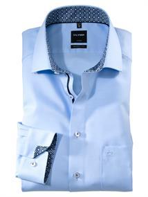 OLYMP overhemd Modern Fit 132064 in het Hemels Blauw