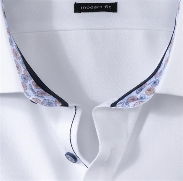 OLYMP overhemd Modern Fit 132254 in het Wit