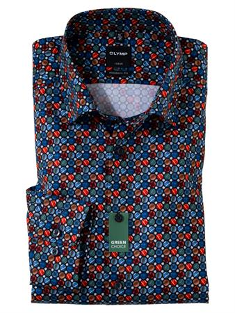 OLYMP overhemd Modern Fit 132489 in het Marine