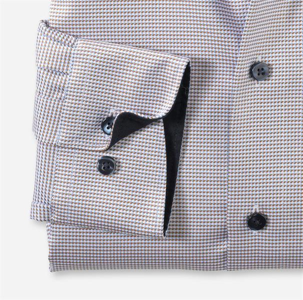 OLYMP overhemd Modern Fit 133064 in het Beige