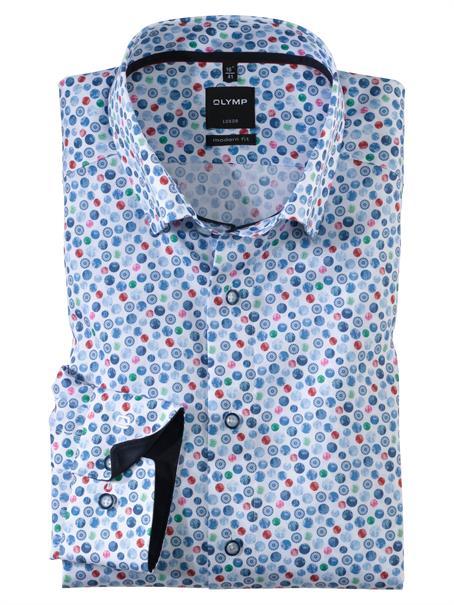 OLYMP overhemd Modern Fit 133854 in het Rood