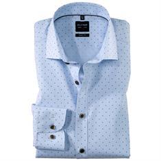 OLYMP overhemd Slim Fit 200034 in het Bruin