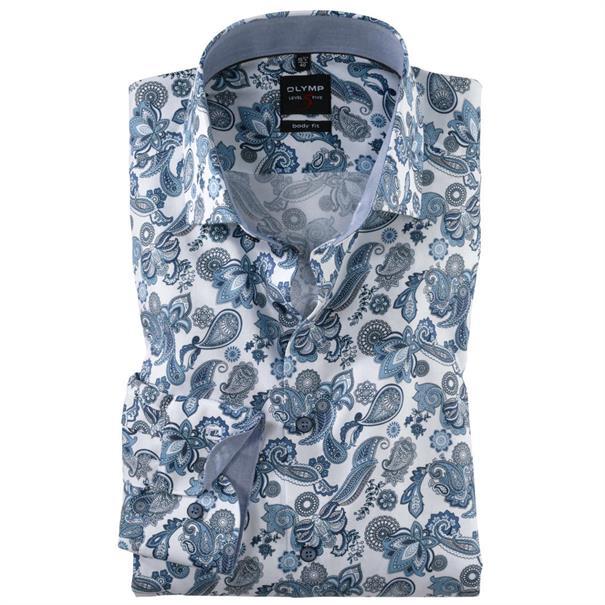 OLYMP overhemd Slim Fit 201134 in het Blauw