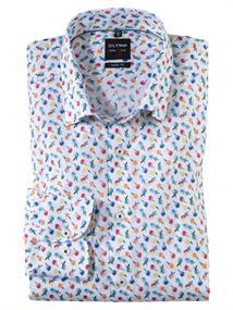 OLYMP overhemd Slim Fit 202154 in het Wit