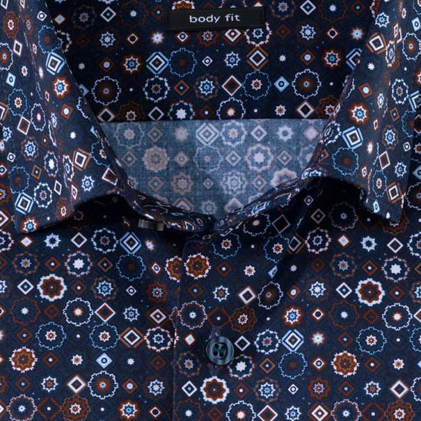 OLYMP overhemd Slim Fit 202744 in het Bruin