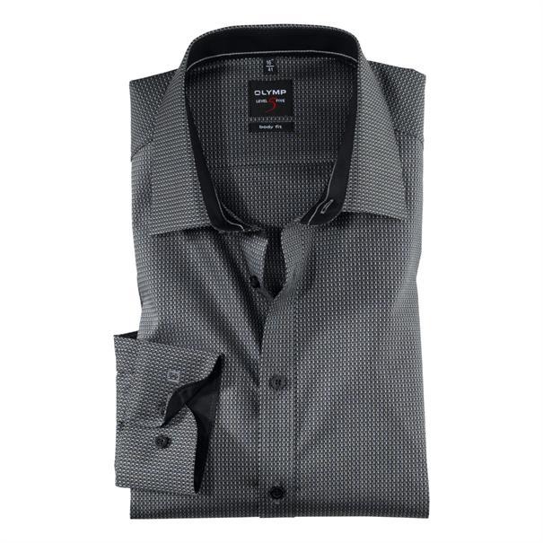 OLYMP overhemd Slim Fit 202844 in het Zwart