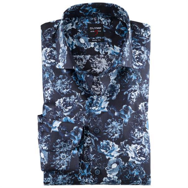 OLYMP overhemd Slim Fit 203744 in het Blauw