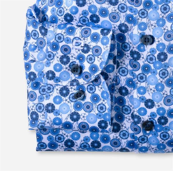 OLYMP overhemd Slim Fit 205854 in het Kobalt