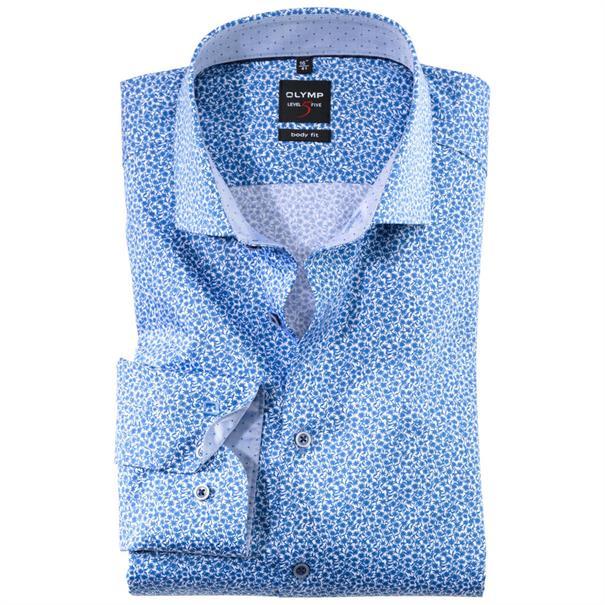 OLYMP overhemd Slim Fit 206834 in het Kobalt