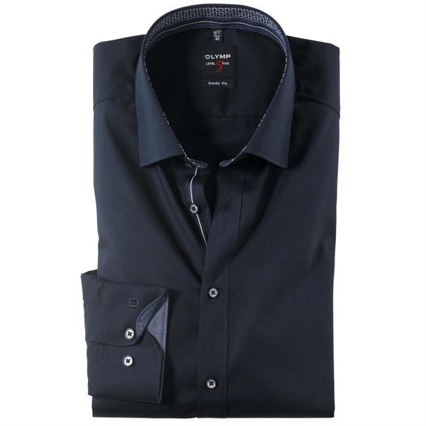 OLYMP overhemd Slim Fit 208244 in het Kobalt