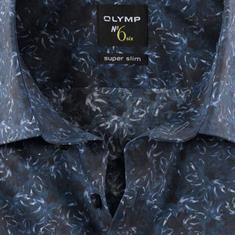 OLYMP overhemd Super Slim Fit 250344 in het Marine
