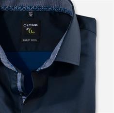 OLYMP overhemd Super Slim Fit 254264 in het Marine