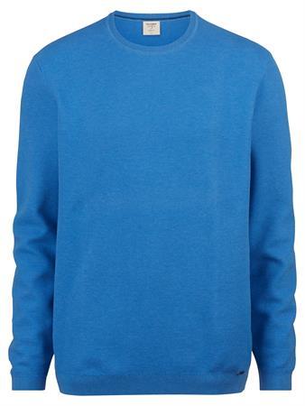OLYMP ronde hals trui Body fit 015211 in het Blauw