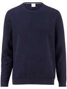 OLYMP ronde hals trui Body fit 015211 in het Donker Blauw