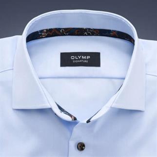 OLYMP SIGNATURE business overhemd Tailored Fit 851544 in het Hemels Blauw