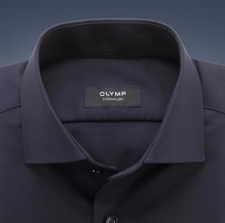 OLYMP SIGNATURE business overhemd Tailored Fit 851574 in het Donker Blauw