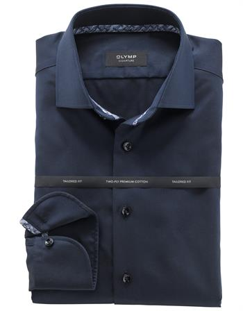 OLYMP SIGNATURE business overhemd Tailored Fit 852074 in het Marine