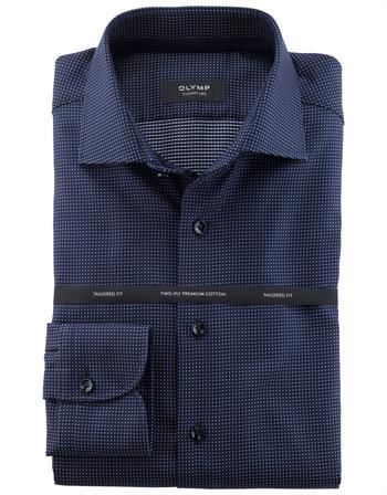 OLYMP SIGNATURE business overhemd Tailored Fit 852254 in het Kobalt