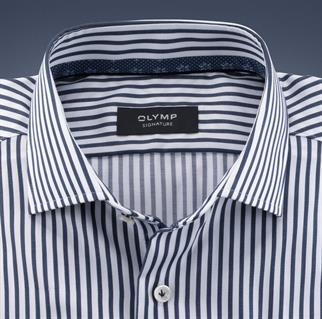OLYMP SIGNATURE business overhemd Tailored Fit 852454 in het Marine