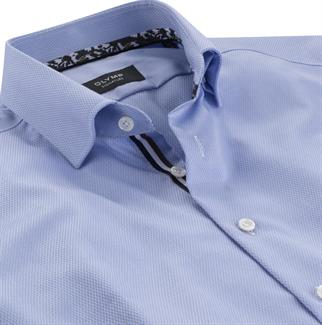 OLYMP SIGNATURE business overhemd Tailored Fit 852854 in het Blauw