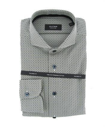 OLYMP SIGNATURE business overhemd Tailored Fit 854364 in het Olijf groen