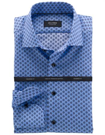 OLYMP SIGNATURE business overhemd Tailored Fit 855864 in het Blauw