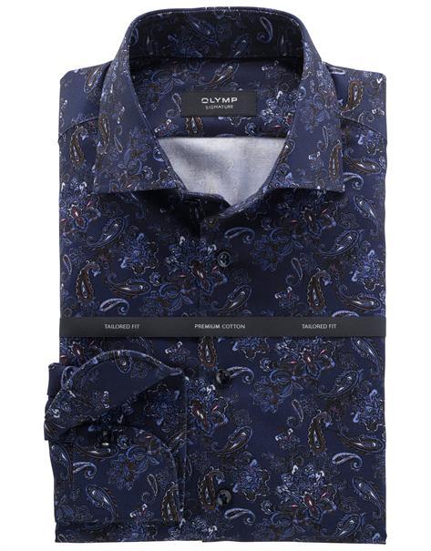 OLYMP SIGNATURE overhemd Slim Fit 855764 in het Donker Blauw