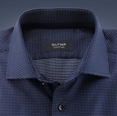 OLYMP SIGNATURE overhemd Tailored Fit 852254 in het Kobalt